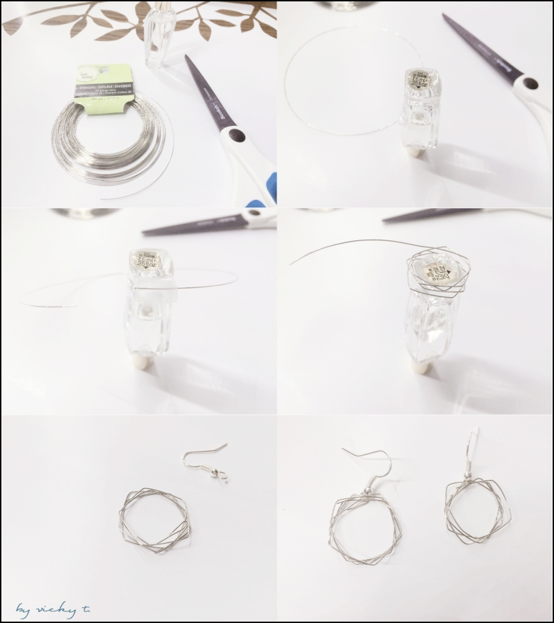 wire earrings steps
