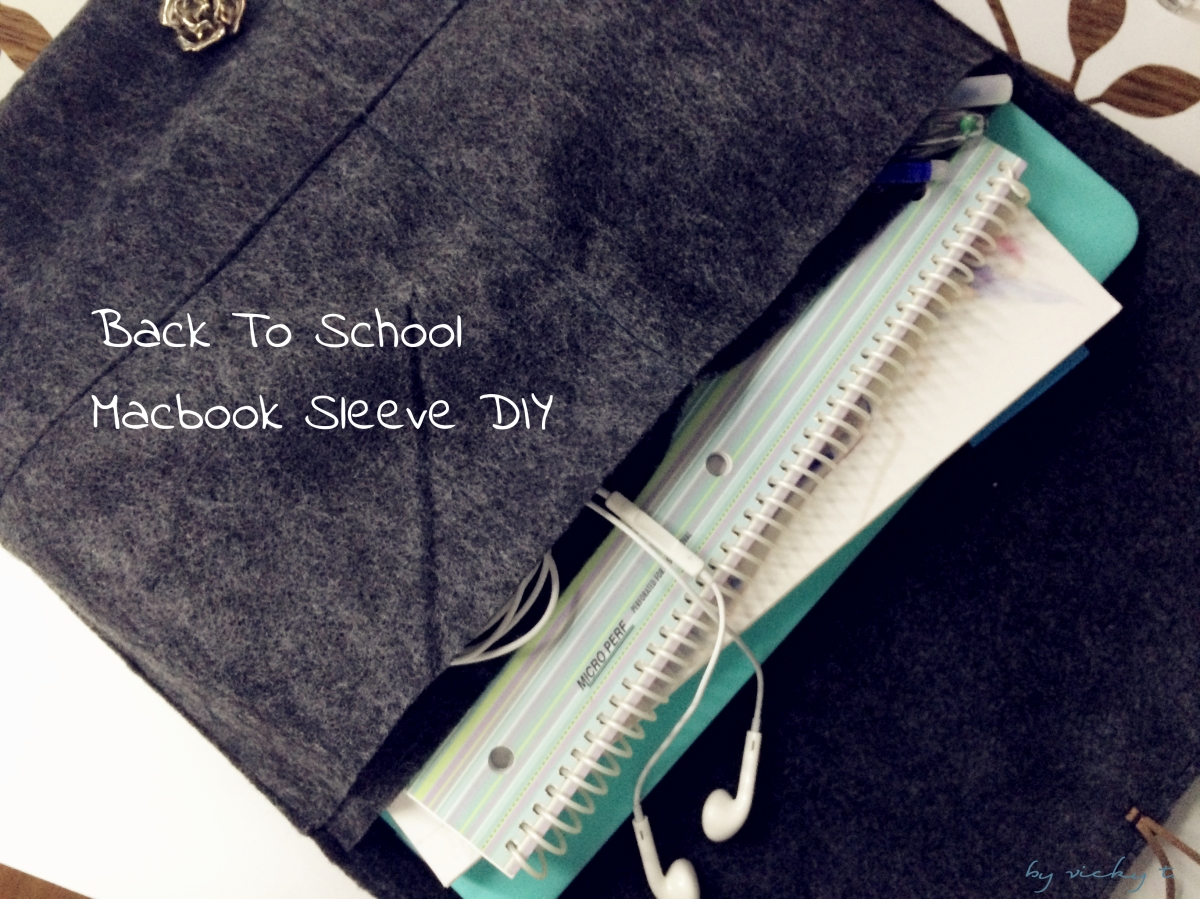 Back to School Macbook Sleeve DIY