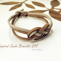 Fall Inspired Suede Bracelet DIY