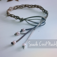 DIY Suede Cord Necklace