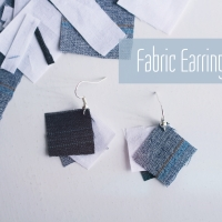 Fabric Earrings DIY