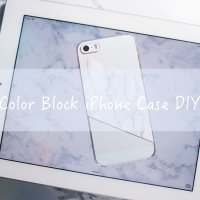 Color Block iPhone Case DIY