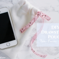 DIY Drawstring Pouch for your iPhone