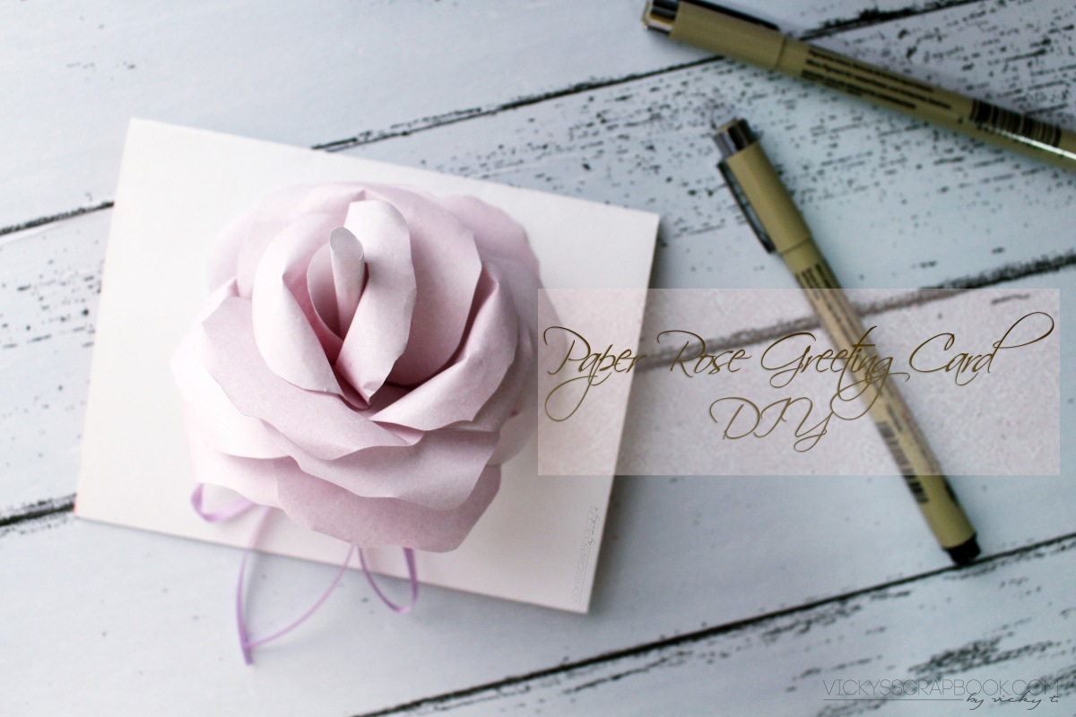 Paper Rose Greeting Card - DIY