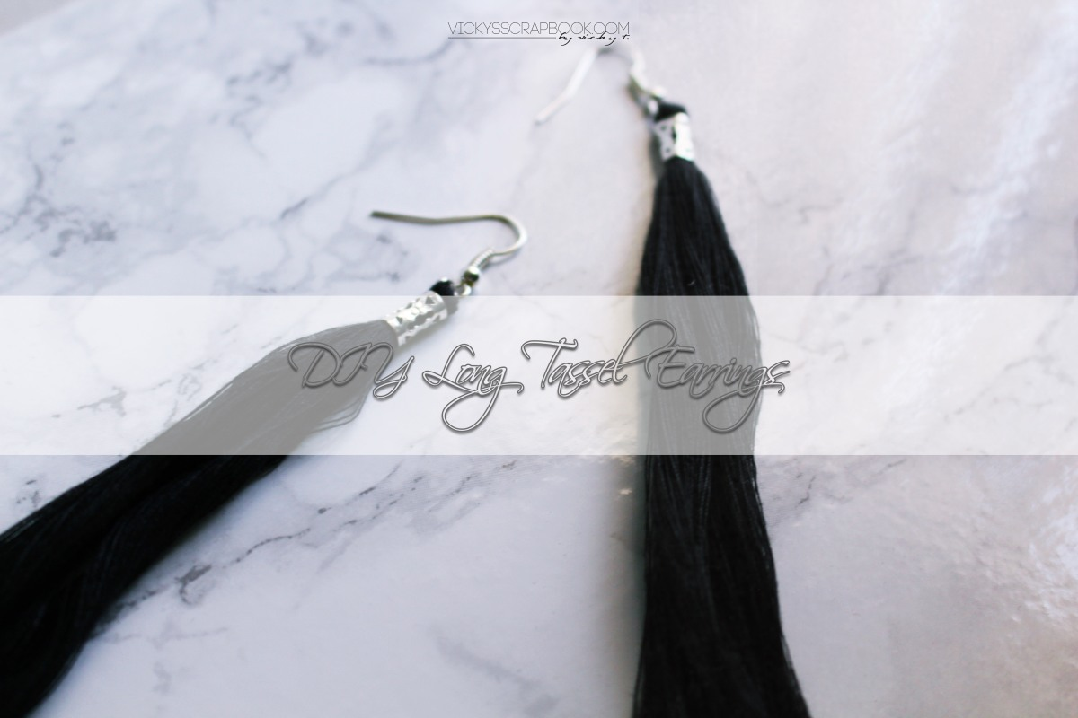 DIY Long Tassel Earrings